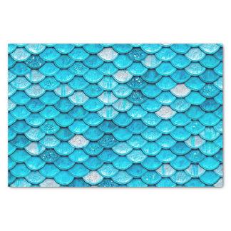 Iridescent Blue Glitter Shiny Mermaid Fish Scales Tissue Paper