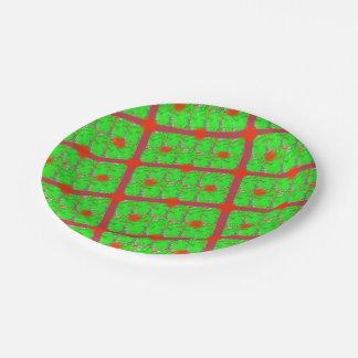 Iridescent Christmas Paper Plates