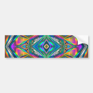 Iridescent Chrome Bumper Sticker