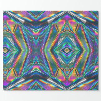 Iridescent Chrome Wrapping Paper