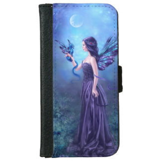 Iridescent Fairy & Dragon Art iPhone 6 Wallet Case