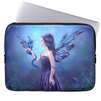 Iridescent Fairy & Dragon Art Laptop Sleeve