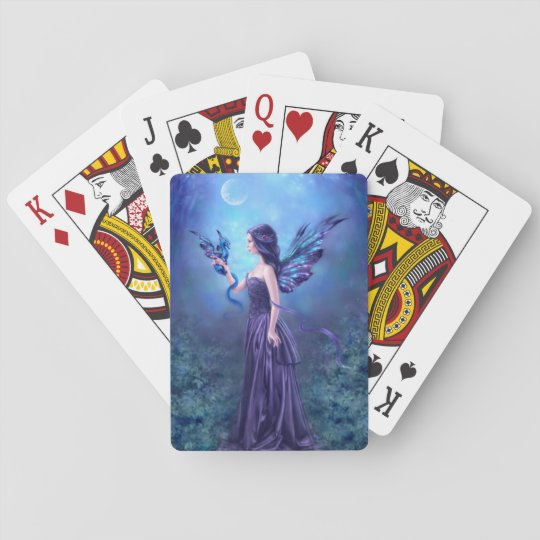 Iridescent Fairy & Dragon Art Playing Cards