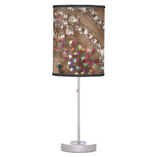 Iridescent gems lamp