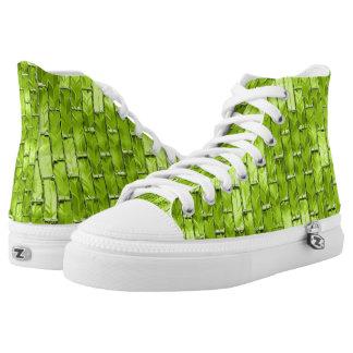 Iridescent Green Bricks High Tops