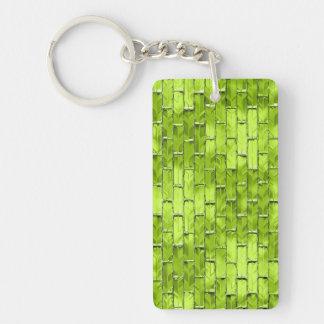 Iridescent Green Bricks Keychain