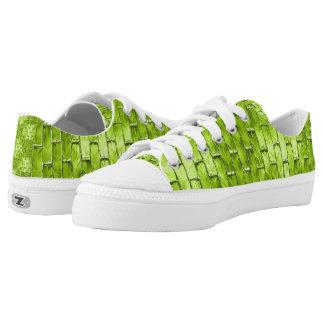 Iridescent Green Bricks Low-Top Sneakers