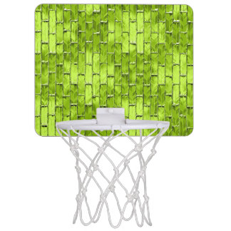 Iridescent Green Bricks Mini Basketball Hoop