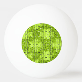 Iridescent Green Bricks Ping Pong Ball