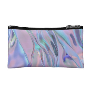 Iridescent Holo Trippy Gel Cosmetic Bag