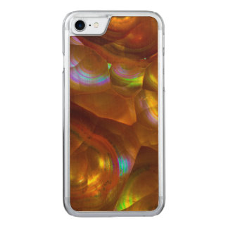 Iridescent orange fire opal carved iPhone 8/7 case