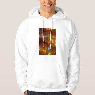 Iridescent orange fire opal hoodie