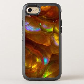 Iridescent orange fire opal OtterBox symmetry iPhone 8/7 case