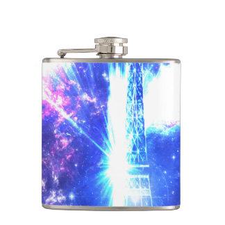 Iridescent Parisian Sky Hip Flask
