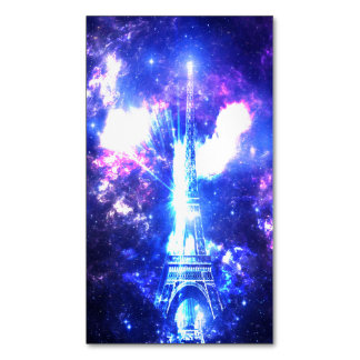 Iridescent Parisian Sky Magnetic Business Card