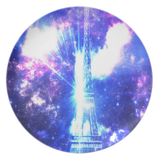 Iridescent Parisian Sky Party Plate