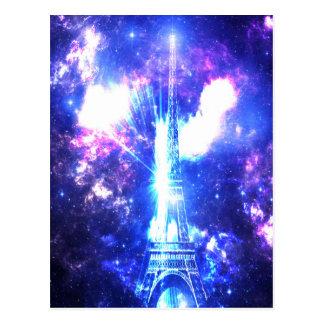 Iridescent Parisian Sky Postcard