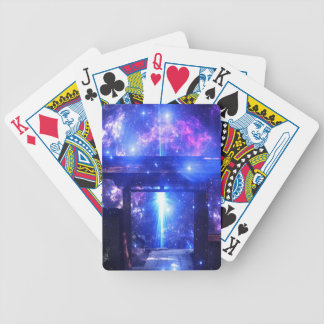 Iridescent Pathway to Anywhere Bicycle Playing Cards