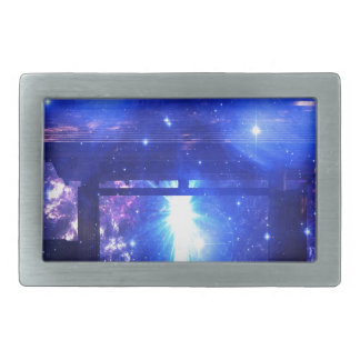 Iridescent Pathway to Anywhere Rectangular Belt Buckle