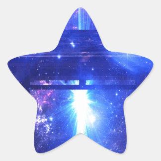 Iridescent Pathway to Anywhere Star Sticker