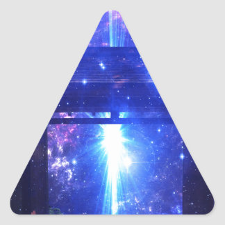 Iridescent Pathway to Anywhere Triangle Sticker