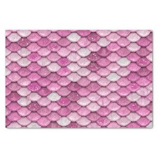 Iridescent Pink Glitter Shiny Mermaid Fish Scales Tissue Paper