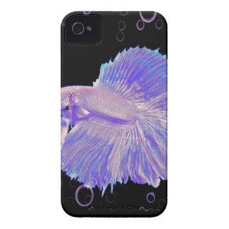 Iridescent Purple Fighting Fish iPhone 4 Case-Mate Case