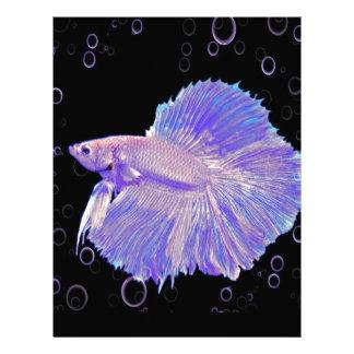 Iridescent Purple Fighting Fish Letterhead