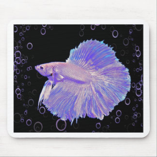 Iridescent Purple Fighting Fish Mouse Pad