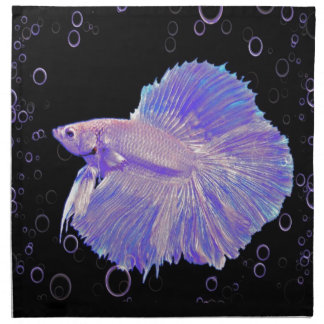Iridescent Purple Fighting Fish Napkin