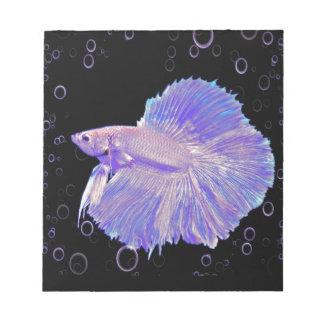 Iridescent Purple Fighting Fish Notepad