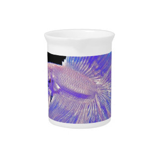 Iridescent Purple Fighting Fish Pitcher