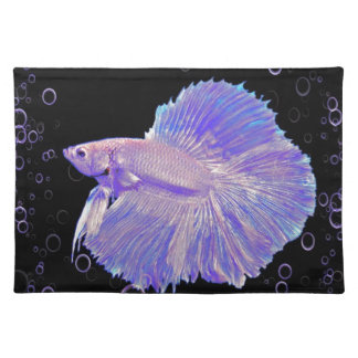 Iridescent Purple Fighting Fish Placemat