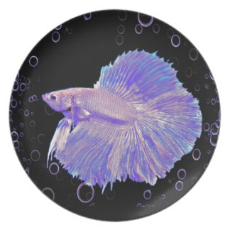 Iridescent Purple Fighting Fish Plate