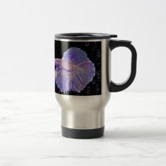 Iridescent Purple Fighting Fish Travel Mug
