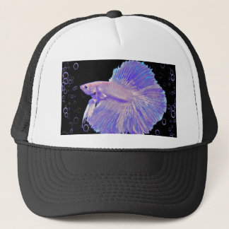 Iridescent Purple Fighting Fish Trucker Hat
