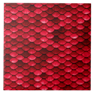 Iridescent Red Shiny Glitter Mermaid Fish Scale Ceramic Tiles