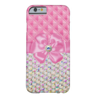 Iridescent Rhinestones Ribbon Bows iPhone 6 case