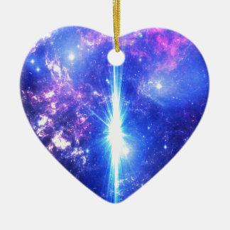 Iridescent Skies Ceramic Heart Ornament