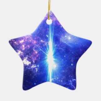 Iridescent Skies Ceramic Star Ornament