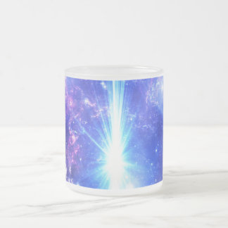 Iridescent Skies Frosted Glass Coffee Mug