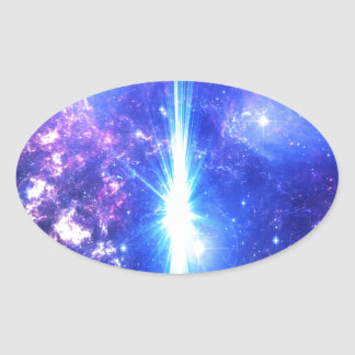 Iridescent Skies Oval Sticker