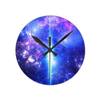 Iridescent Skies Round Clock