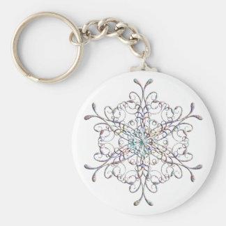 Iridescent Snowflake keychain