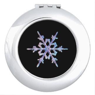 Iridescent snowflake vanity mirror