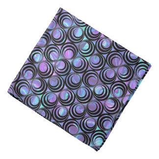 Iridescent Spiral Pattern - Custom Pocket Square, Head Kerchief