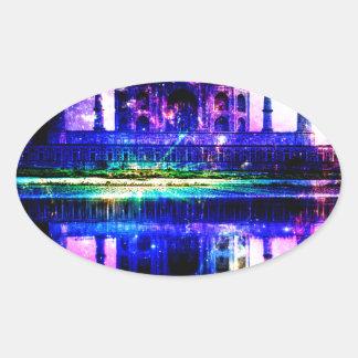 Iridescent Taj Mahal Dreams Oval Sticker