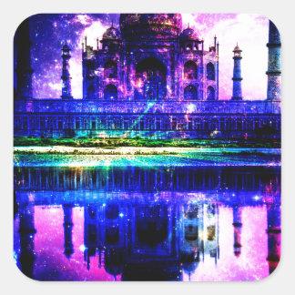 Iridescent Taj Mahal Dreams Square Sticker