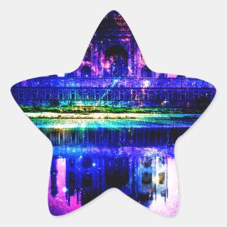 Iridescent Taj Mahal Dreams Star Sticker