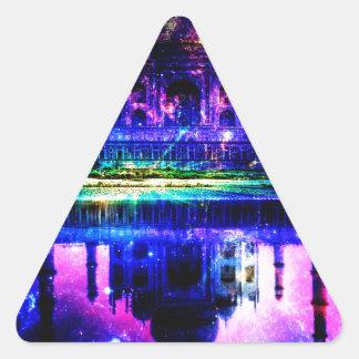 Iridescent Taj Mahal Dreams Triangle Sticker